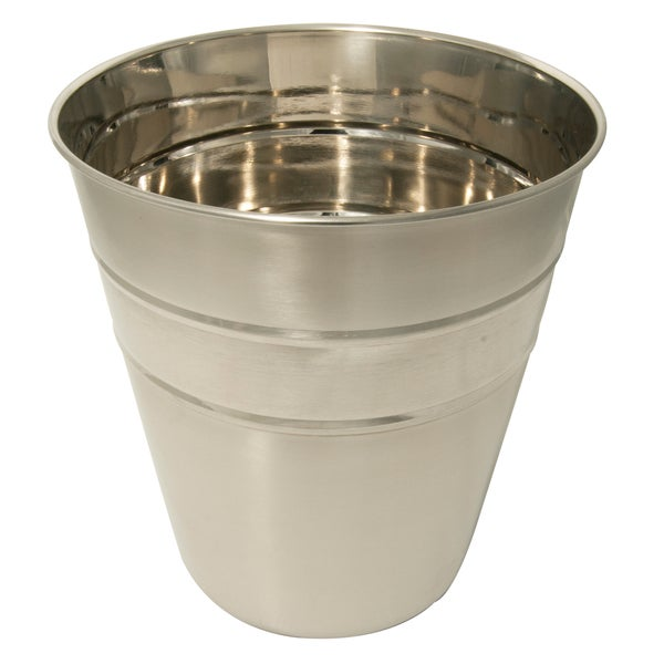 Shiny Long-lasting Stainless Steel Wastebasket (10' x 10.75')