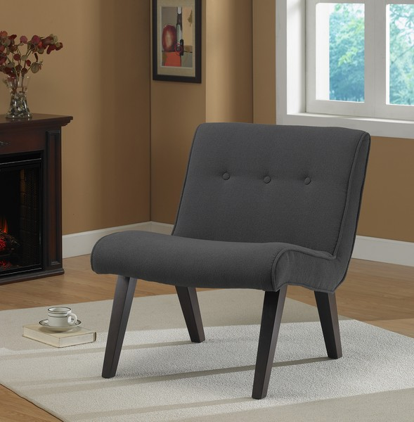 Armless Tufted Chair Steel