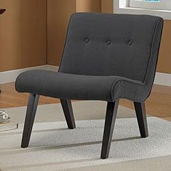 Armless Tufted Chair Steel