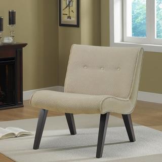 Armless Tufted Chair Sand