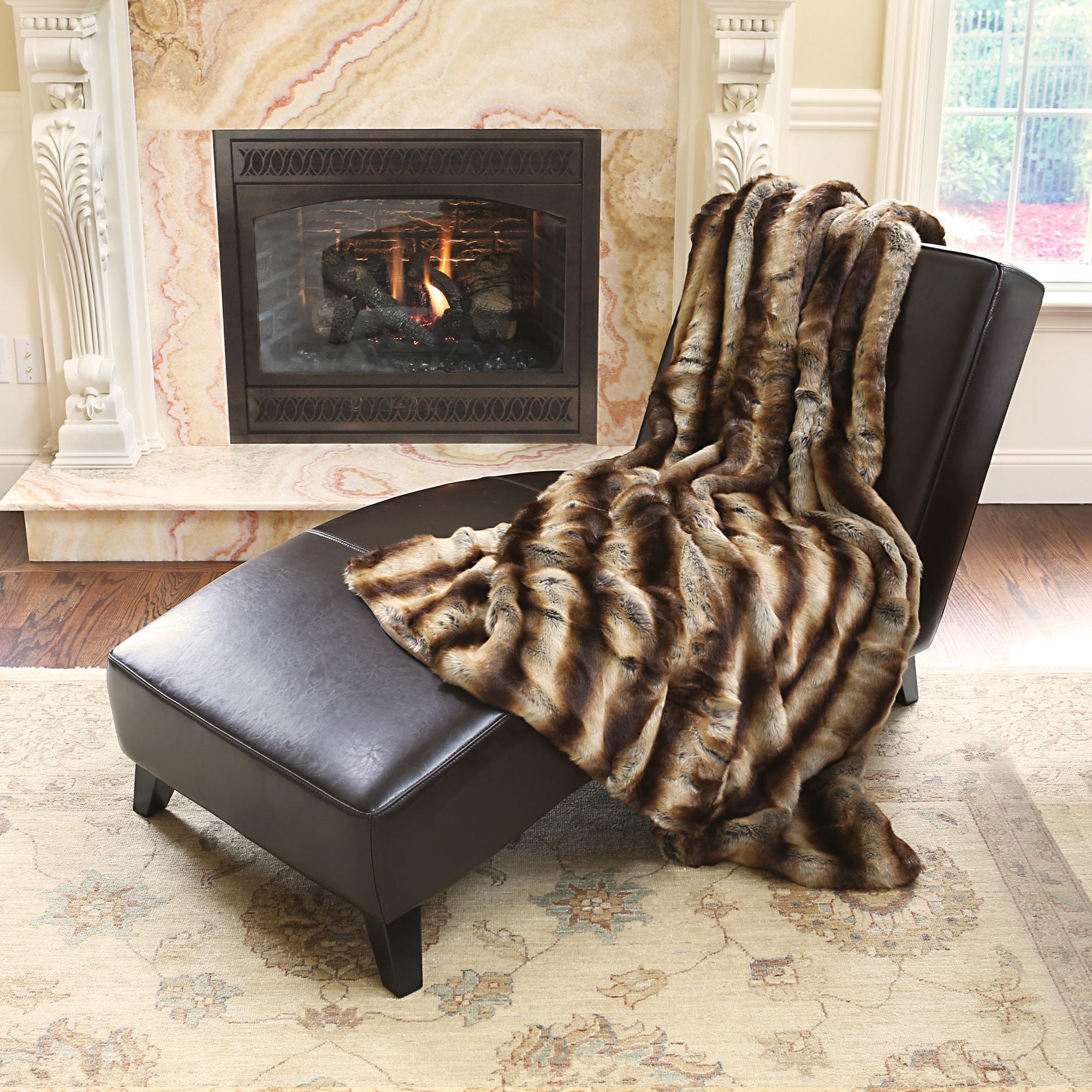 Aurora Home Oversize Safari Faux Fur Patterned Soft Throw...
