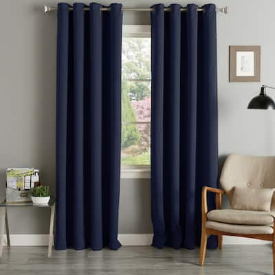 Aurora Home Grommet Top Thermal Insulated 96-inch Blackout Curtain Panel Pair - 52 x 96 - 52 x 96