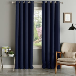 Link to Aurora Home Grommet Top Thermal Insulated 96-inch Blackout Curtain Panel Pair - 52 x 96 - 52 x 96 Similar Items in Curtains & Drapes