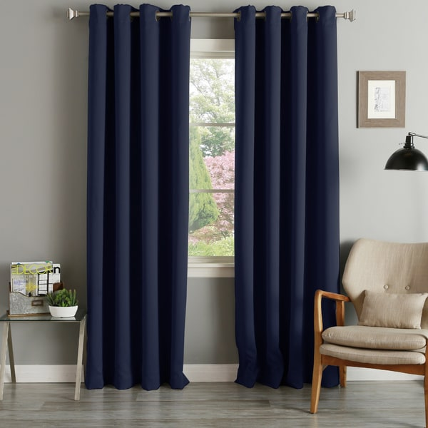 Aurora Home Grommet Top Thermal Insulated 96-inch Blackout Curtain Panel Pair - 52 x 96