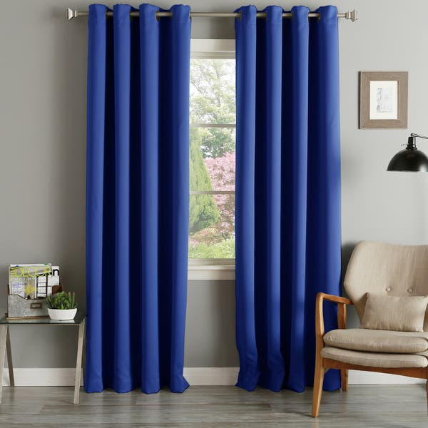 Aurora Home Grommet Top Thermal Insulated 96 Inch Blackout Curtain Panel Pair 52 X 96 52 X 96 On Sale Overstock 4359824