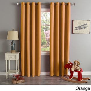 Aurora Home Grommet Top Thermal Insulated 96-inch Blackout Curtain Panel Pair