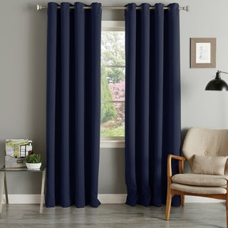 aurora home grommet top thermal insulated 96inch blackout curtain panel pair