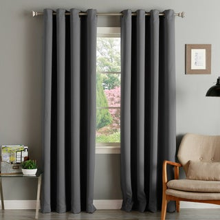Link to Aurora Home Thermal Insulated Blackout Grommet Top 84-inch Curtain Panel Pair - 52 x 84 - 52 x 84 Similar Items in Blackout Curtains