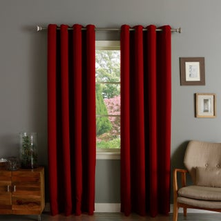 Aurora Home Thermal Insulated Blackout Grommet Top 84-inch Curtain Panel Pair - 52 x 84