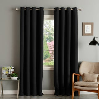 Aurora Home Thermal Insulated Blackout Grommet Top 84-inch Curtain Panel Pair - 52 x 84 (Onyx)