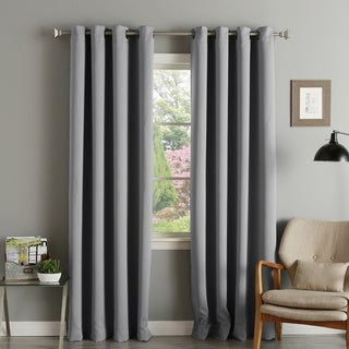 Aurora Home Thermal Insulated Blackout Grommet Top 84-inch Curtain Panel Pair - 52 x 84 (Slate Grey)