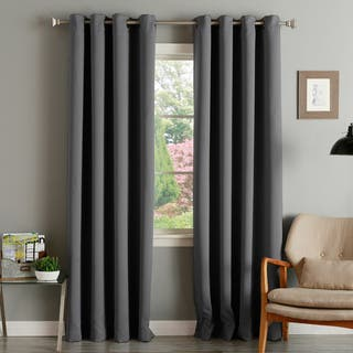 Aurora Home Thermal Insulated Blackout Grommet Top 84-inch Curtain Panel Pair|https://ak1.ostkcdn.com/images/products/4359827/P12329778.jpg?impolicy=medium
