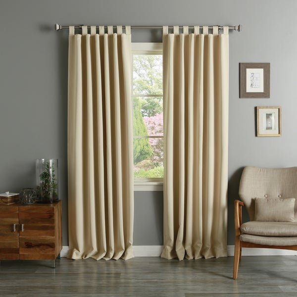 Aurora Home Tab Top Thermal Insulated 84 Inch Blackout Curtain Panel Pair 52 X