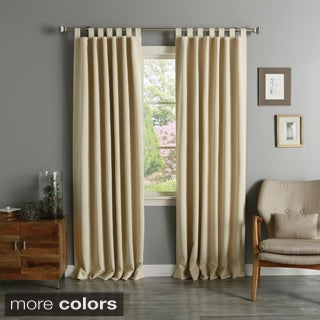 Aurora Home Tab Top Thermal Insulated 84-inch Blackout Curtain Panel Pair