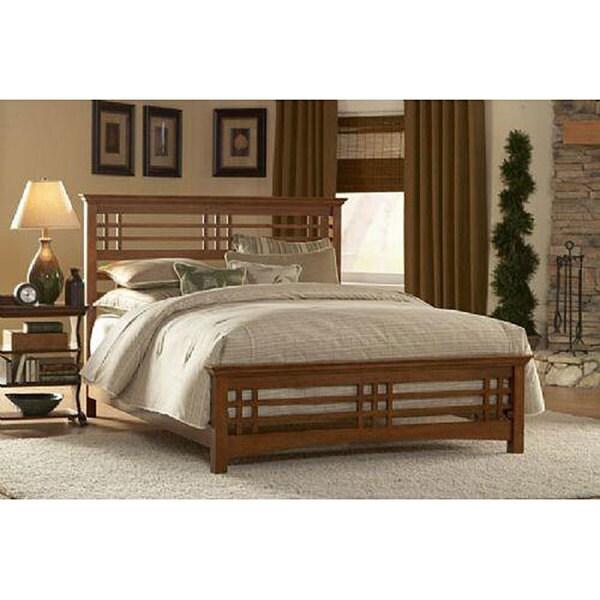 Avery Oak Finish Bed