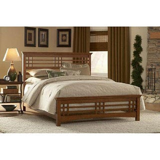 Avery Oak Finish Bed