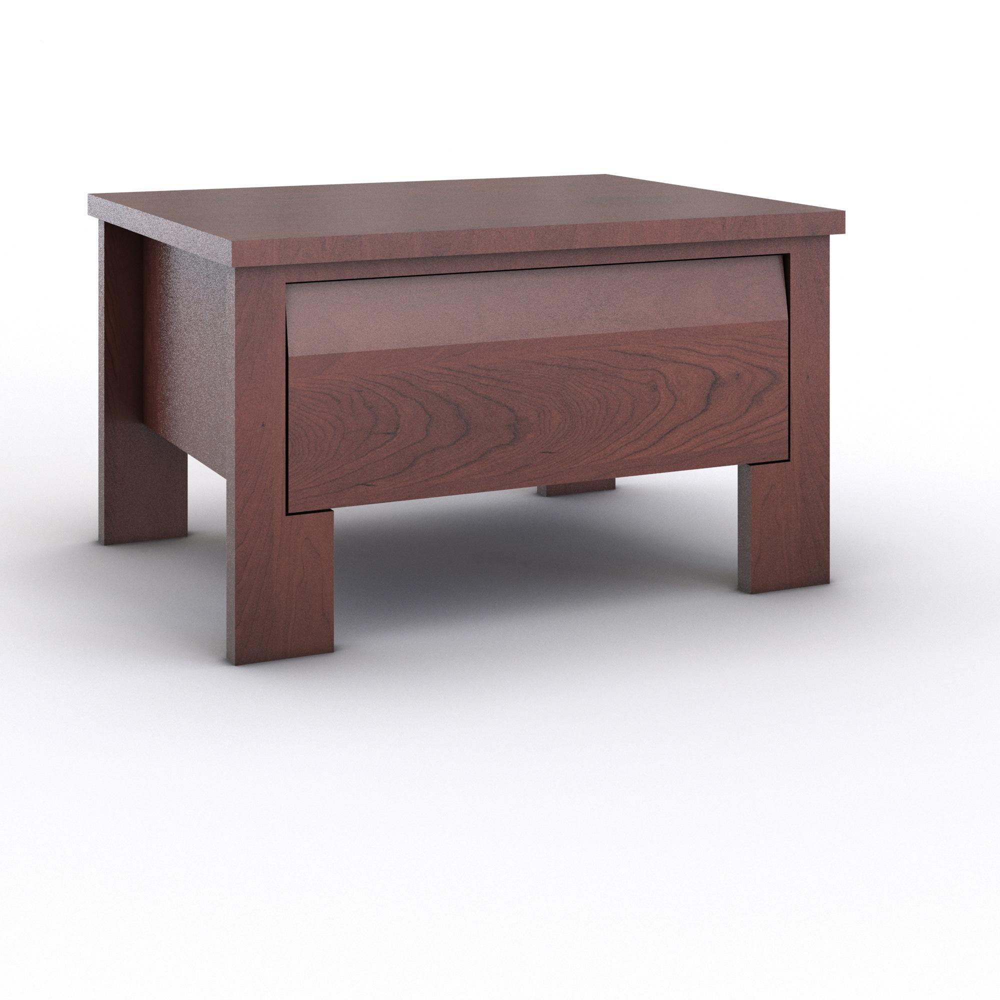 Porch & Den Rosewood Coleto 1-drawer Nightstand