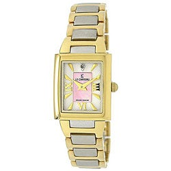 Le Chateau Women's Two-tone Diamond-accented Watch