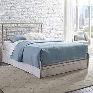 Chatham Complete Bed with Rounded Metal Headboard Rail and Swaged Legs