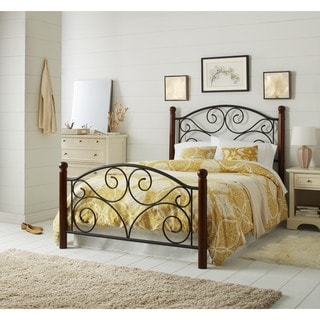 Doral Black Steel Metal Full-size Bed Frame