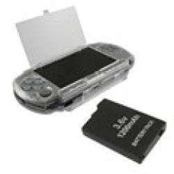 Insten Hard Case Cover and Replacement Battery for Sony PSP 3000 - Thumbnail 1