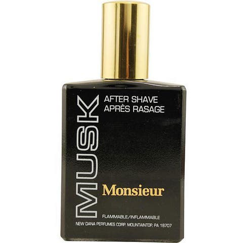 Monsieur Musk Men's 4-ounce Aftershave
