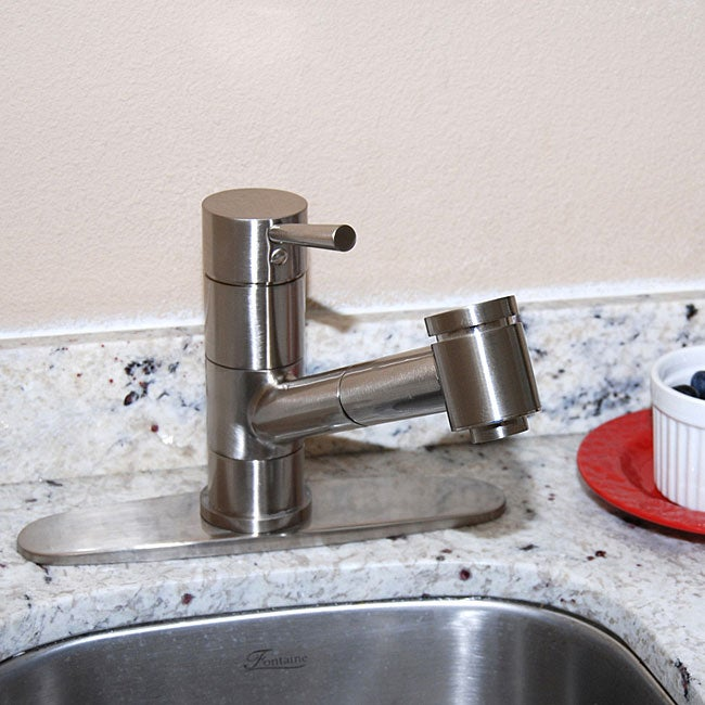 Fontaine Brushed Nickel Pullout Kitchen Faucet