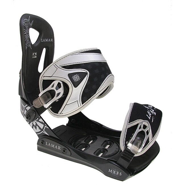 Lamar MX35 Silver Men's Snowboard Bindings (Size 5-9)