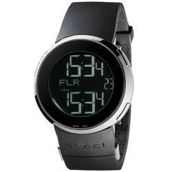 Gucci Men's Small Digital/ Analog Black Strap Watch - Thumbnail 2