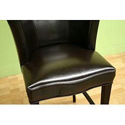 Willet Curved Backrest Leather Barstool - Thumbnail 2