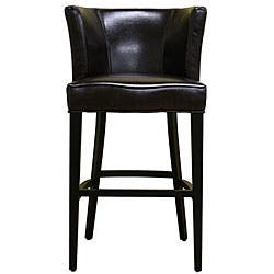 Phenomenal Willet Curved Backrest Leather Barstool Overstock Com Shopping The Best Deals On Bar Stools Inzonedesignstudio Interior Chair Design Inzonedesignstudiocom