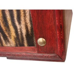 Phat Tommy Tiger Decorative Wooden Storage Trunk - Thumbnail 2