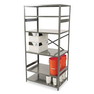 "Tennsco 75"" High Commercial Steel Shelving, 6 Shelves, 24"" Depth"
