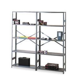 """Tennsco 75"""" High Commercial Steel Shelving, 6 Shelves, 18 """" Depth"""