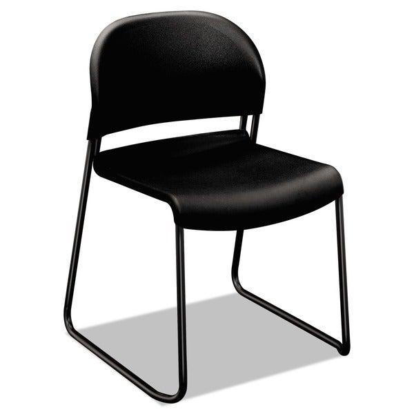 HON GuestStacker Series Chair, Black Finish Legs, 4/Carton - 21 x 21.5 x 31