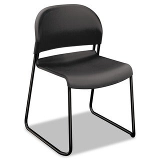 HON GuestStacker Steel Frame Chair, Charcoal (Pack of 4)