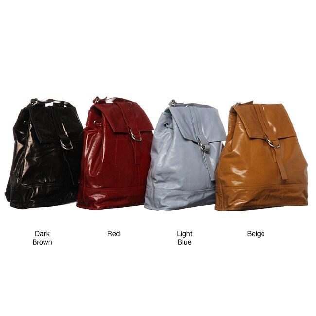 Cosmo Italian Leather Backpack Style Handbag