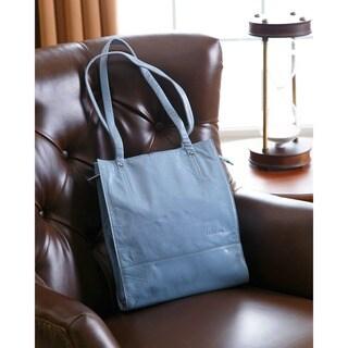Abbyson Cosmo Italian Leather Slim-Style Handbag