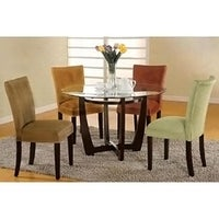 shop sapphire contemporary microfiber terracotta parson chairs set