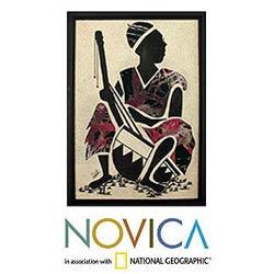 'Kora Player' Original Art (Ghana)