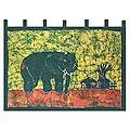 'Proud African Elephant' Batik Wall Hanging (Ghana)