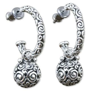 Handmade Sterling Silver 'Ringlets' Dangle Earrings (Indonesia)
