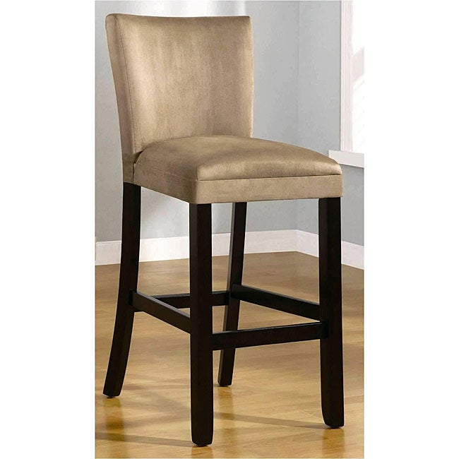 Empire Beige Microfiber Barstools (Set of 2) - Thumbnail 0