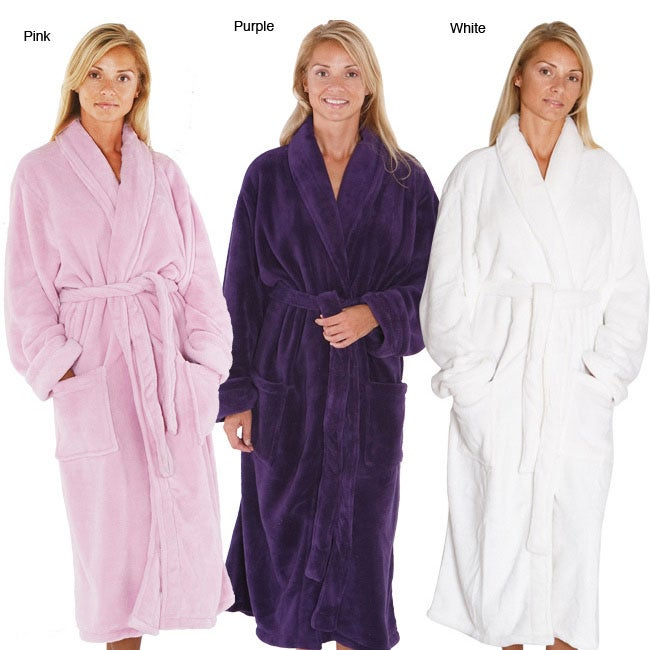 Shop Alexander Del Rossa Women s 14-oz Fleece Long Bath Robe - Free  Shipping Today - Overstock - 4367986 1cd6e268d