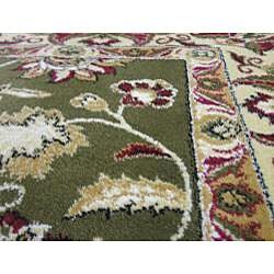Anoosha Persian Garden Design Green Rug (2' x 3'5) - Thumbnail 2