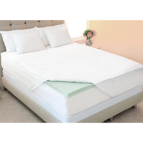 Dream Form Green Tea 2-inch Memory Foam Mattress Topper