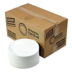 Dixie White Paper 9 inch Plates (Case of 1000 Plates)