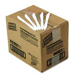 Dixie White Plastic Knives (Case of 1000)