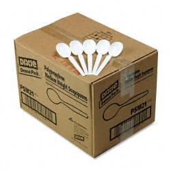Dixie White Plastic Disposable Soup Spoons (Case of 1000)