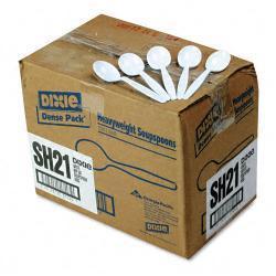 Dixie White Plastic Soup Spoons (Case of 1000)